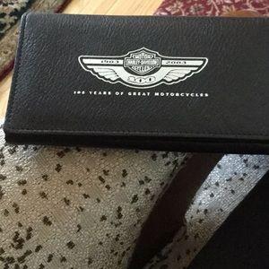 Harley Davidson tri-fold wallet NEW